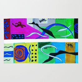 inspiration from Matisse . Gift Ideas for Him and Her / artwork Rug