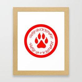 FLY WOOPIN BLOOD DESIGN Framed Art Print