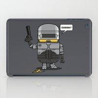 law iPad Cases featuring Despicable Law Enforcer by pigboom el crapo