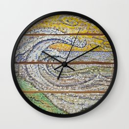 Waves on Grain Wall Clock