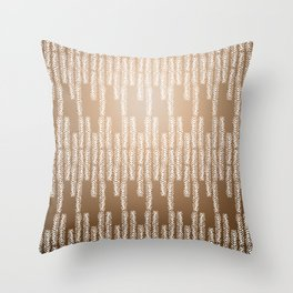 Eye of the Magpie tribal style pattern - gold Throw Pillow
