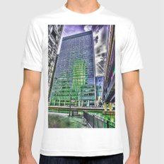 London Photography Canary Wharf Recollection Pop ART Mens Fitted Tee White MEDIUM