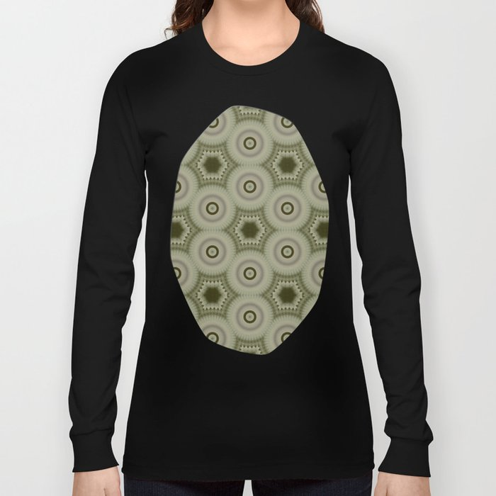 Fractal Cogs n Wheels in CMR02 Long Sleeve T-shirt