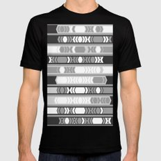 black and white arrows MEDIUM Black Mens Fitted Tee