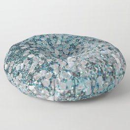 Mermaid Scales Aqua Sol Floor Pillow