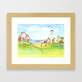 At the seaside Framed Art Print