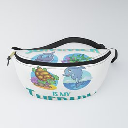 Summer and Sea Creatures Is My Therapy Fanny Pack