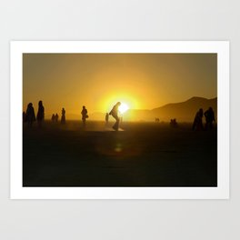 BM Silhouette Art Print