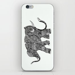 Snakelephant Indian Ink Hand Draw iPhone Skin