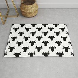 Minimalist Cow Head Silhouette Rug