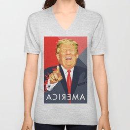 Trump Poster  Unisex V-Neck