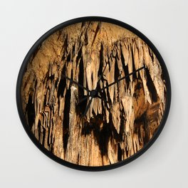 Cave Rock Stone Sharp inside crystal Wall Clock
