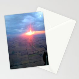 Flying at Sunset (Full Sutton) Stationery Cards