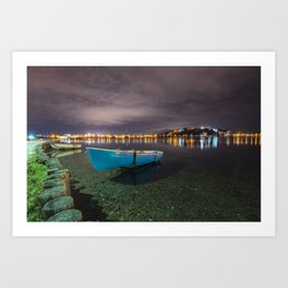 Quiet in the lake Art Print