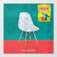 eames Canvas Prints featuring Eames Chair  by Xchange Art Studio