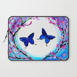 Butterfly Print Laptop Sleeve