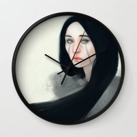 witch Wall Clocks featuring Witch by Ulfvidh