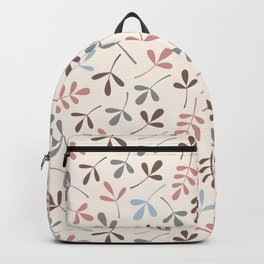 Assorted Leaf Silhouettes Pastel Colors Backpack