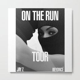 beyoncee and jay Z on the run Metal Print