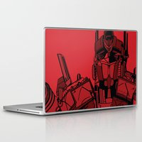 optimus prime Laptop & iPad Skins featuring Transformers: Optimus Prime by Skullmuffins