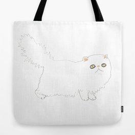 White Persian Cat Tote Bag