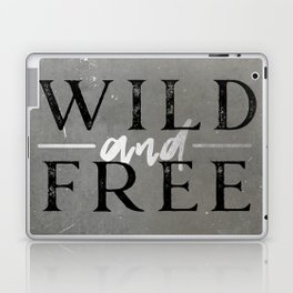 Wild and Free Silver Concrete Laptop & iPad Skin