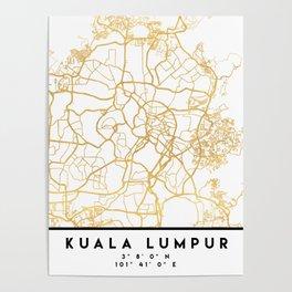 KUALA LUMPUR MALAYSIA CITY STREET MAP ART Poster