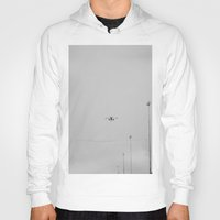 airplane Hoodies featuring Chicago Airplane by KimberosePhotography