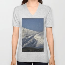 Hight snowy mountains. 3489 meters Unisex V-Neck