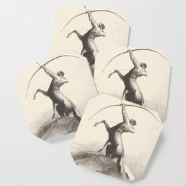"""Odilon Redon """"Centaur focuses on the sky"""" Coaster"""