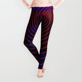 Red-blue wormhole Leggings