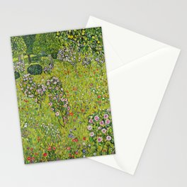 "Gustav Klimt ""Orchard with Roses (Obstgarten mit Rosen)"" Stationery Cards"