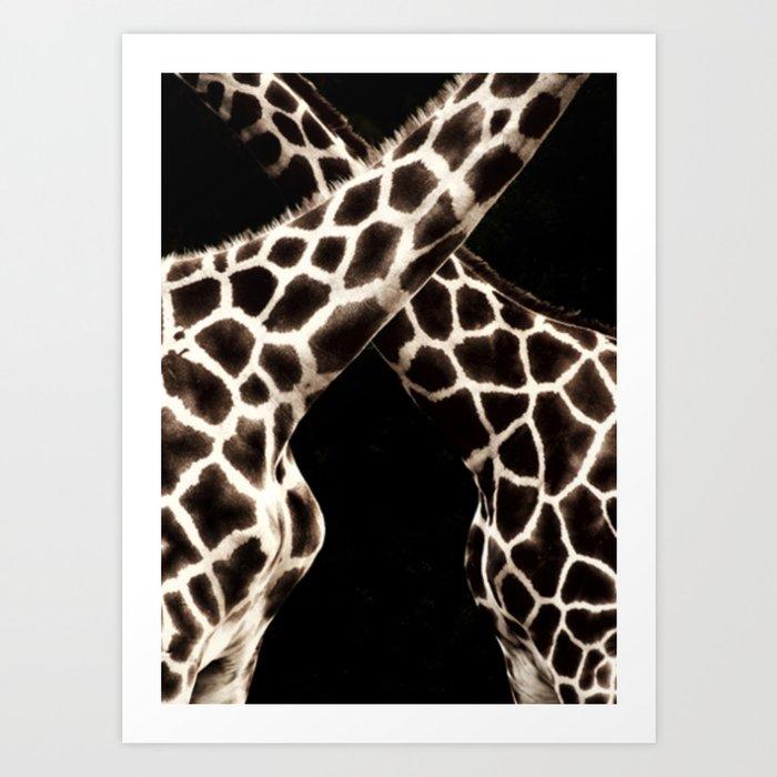 Cross Patterns. Art Print