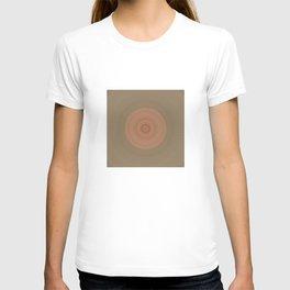 Coral Peach and Taupe Mandala T-shirt