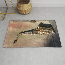 New Orleans French Quarter Saxophone Rug