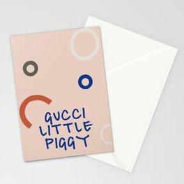 Fashion Pig Azure Stationery Cards