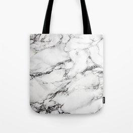 Greyish White Marble Tote Bag
