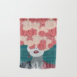 Women with roses Wall Hanging