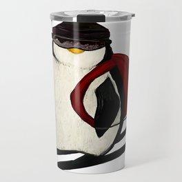 Skiing Penguin Travel Mug