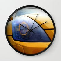 transformer Wall Clocks featuring The Eye Of A Transformer by VHS Photography