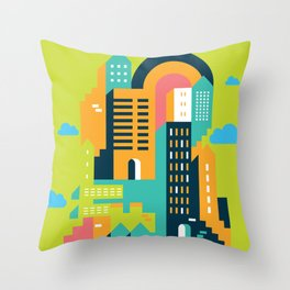 my home my city Throw Pillow