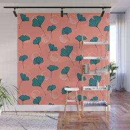 Bright Ginkgo & Dots #society6 #decor #buyart Wall Mural