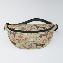 AUTUMN HORSES - Sage green  Fanny Pack