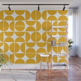 Mid Century Modern Geometric 04 Yellow Wall Mural