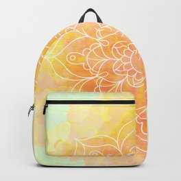 Watercolor Mandala // Sunny Floral Mandala Backpack