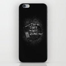 The Timey Wimey Zone iPhone & iPod Skin