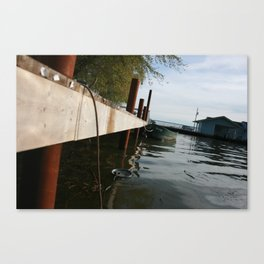 Sittin' On The Dock Of The Bay Fishin' For Crappy Canvas Print
