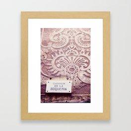Carrer de la Boqueria Color Framed Art Print