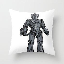 Cyberman... Throw Pillow