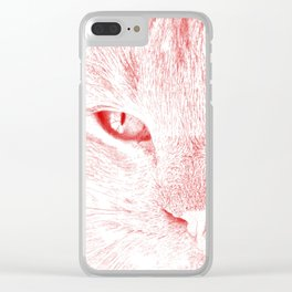 sandy, close up, drawing red Clear iPhone Case